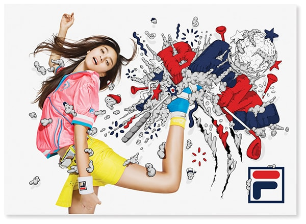 Fila Advert by Alex Trochut
